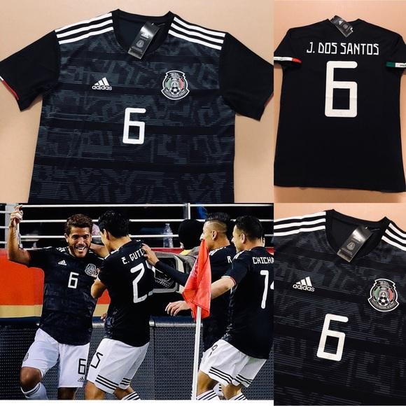 8801eaa9c adidas Shirts   2019 Mexico Jonathan Dos Santos 6 Soccer Jersey ...